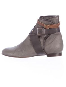 Chloé Chloe Womens Leather Gray Boots