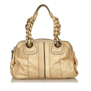 Chloé Beige Brown Leather 6bclsh009 Shoulder Bag