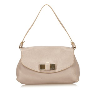 Chloé Beige Leather Lily Shoulder Bag
