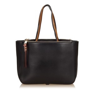 Chloé Black Brown Leather Tote
