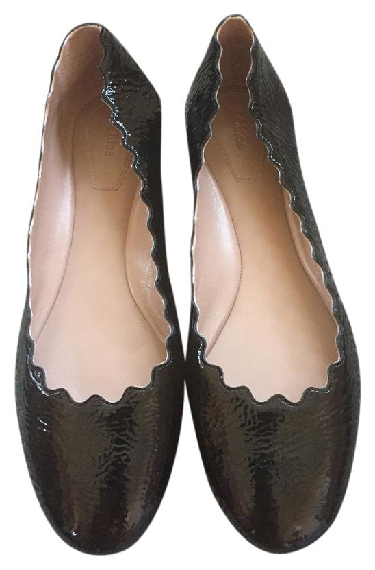 Chloé Patent Leather Round-Toe Flats outlet best shop offer cheap online free shipping footaction snb11aN0