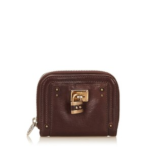 Chloé Brown,leather,others,slg,6gclsw005