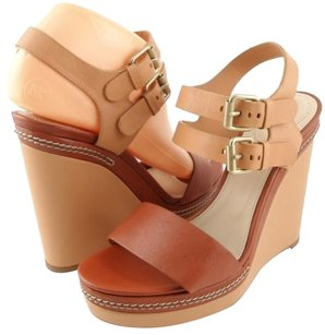 Chloe Ch20282 Tan Brown Multi-Color Platforms