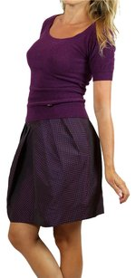 Chloé Chloe Printed Designer Skirt Purple Polka Dot