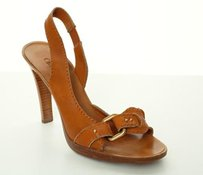 Chlo Chloe Camel Leather Brown Pumps