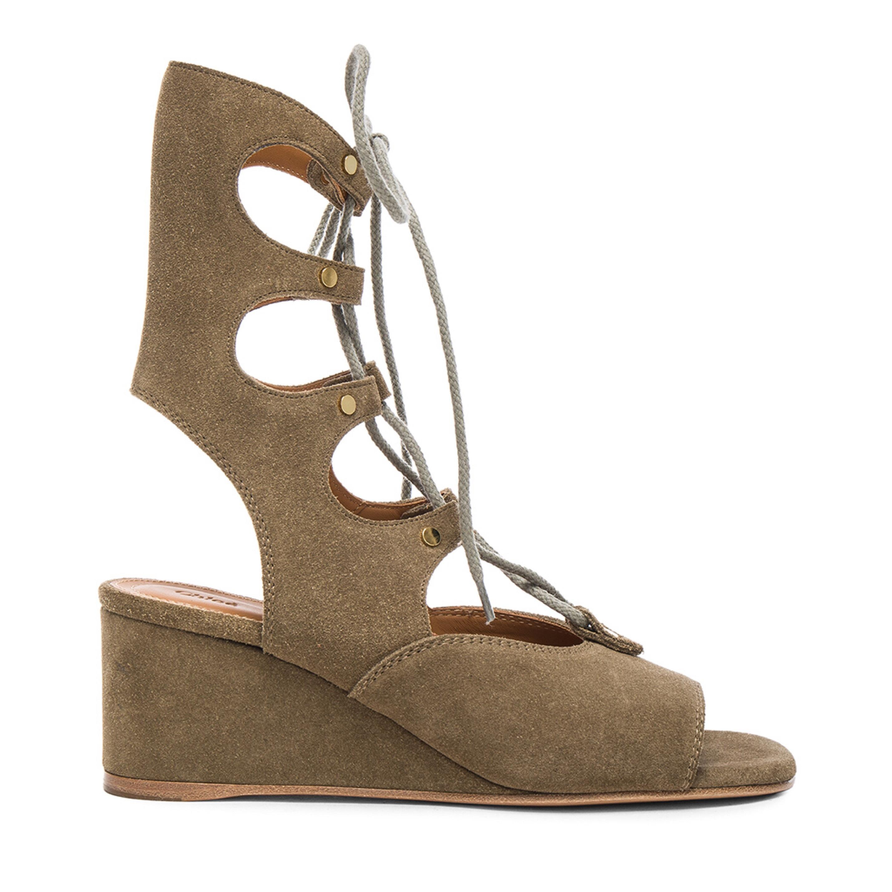 Chloé Suede Lace-Up Wedges w/ Tags sale pick a best footlocker finishline for sale e5MDo5WCD4