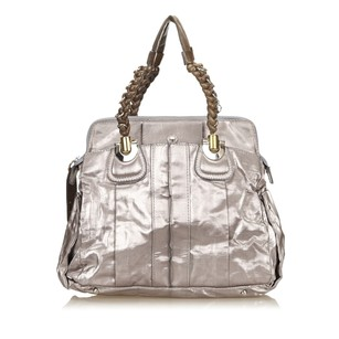 Chlo Grey Leather Shoulder Bag