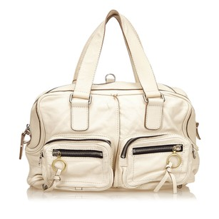Chloé Ivory Leather Shoulder Bag