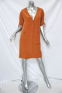 Chloé short dress Oranges Chloe Pumpkin Silk Shirt on Tradesy