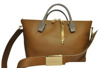 Chloé Tote in Chloe Dinghy Wood (brown) and khaki colorblock