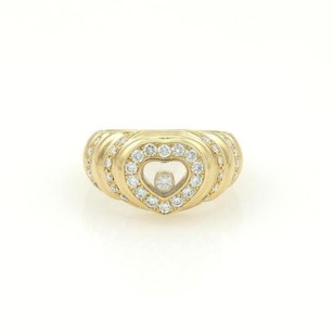 Chopard Chopard 18k Yellow Gold Happy Diamonds Heart Ring With Certificate