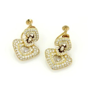 Chopard Chopard Happy Diamond 18k Ygold 2.50ctw Diamond Hearts Drop Dangle Earrings
