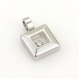 Chopard Chopard Happy Diamonds 18k White Gold 1 Floating Diamond Square Pendant