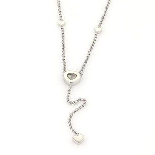 Chopard Chopard Happy Diamonds 18k White Gold Heart Pendant Lariat Necklace