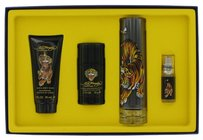 Christian Audigier Ed Hardy By Christian Audigier Gift Set -- 3.4 Oz Eau Detoilette Spray + .25 Oz Mni Edt Spray + 3 Oz Shower Gel + 2.75 Oz Deodorant Stick