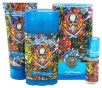 Christian Audigier Ed Hardy Hearts & Daggers By Christian Audigier Gift Set -- 3.4 Oz Eau De Toilette Spray + 3 Oz Shower Gel + 2.75 Oz Deodorant Stick + .25 Oz Mini Edt Spray