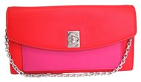 Dior Auth Christian Dior Twist Rendez-vous Wallet Leather Red/Pink (BF072666)