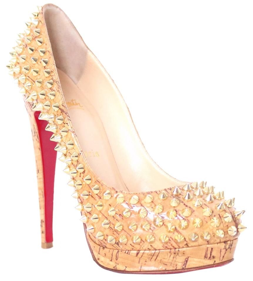 christian louboutin gold shoes