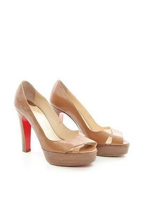 Christian Louboutin 100mm Brown Platforms