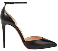 Christian Louboutin Ankle Strap Uptown 100mm Black Pumps