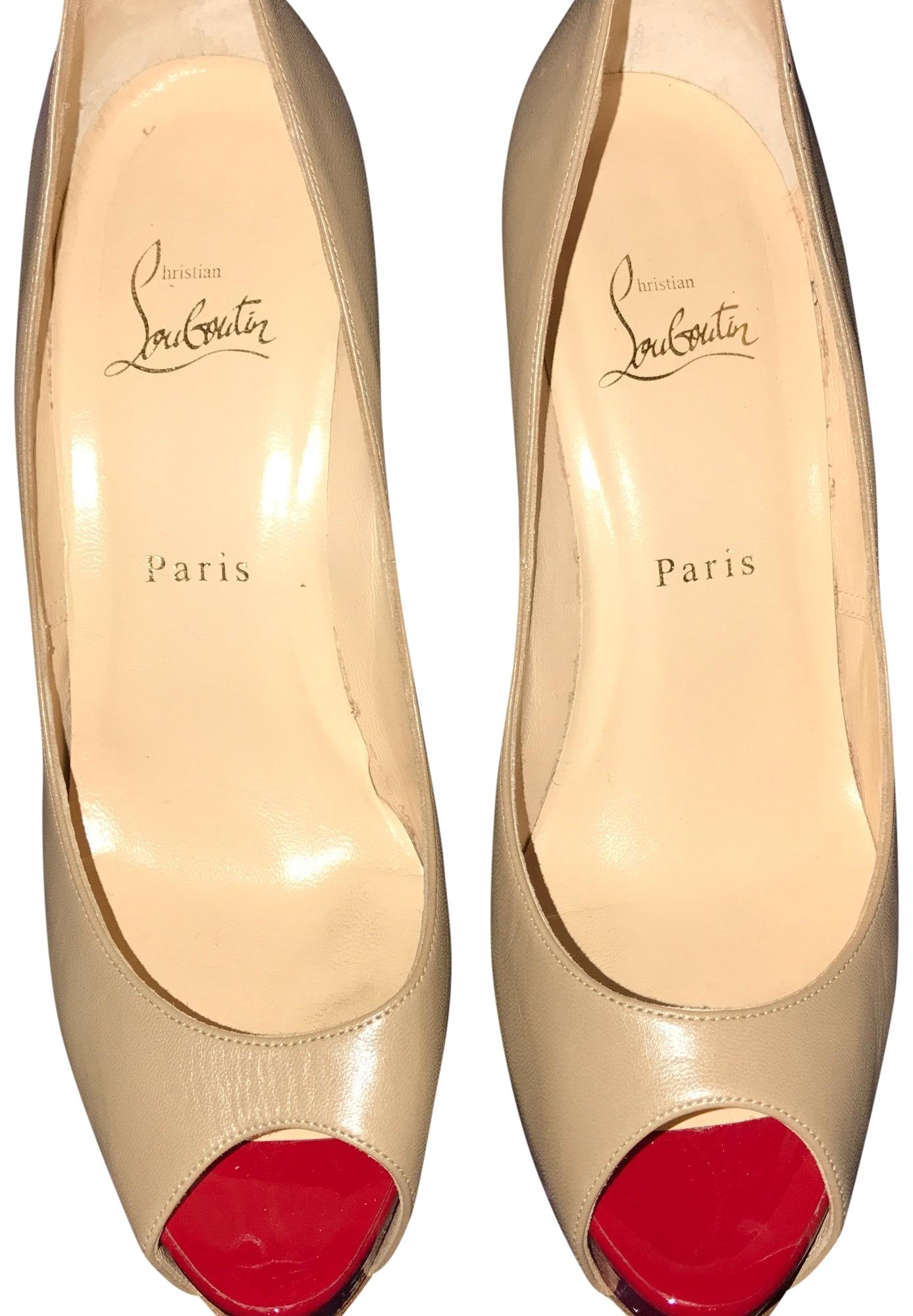Christian Louboutin Beige 1131007 Vendome 120 Platforms Size US 9.5 Regular (M, B)