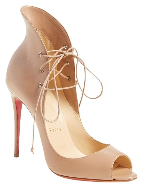 Christian Louboutin Beige Nude Megavamp 100 Leather Pumps Size US 9 Regular (M, B)