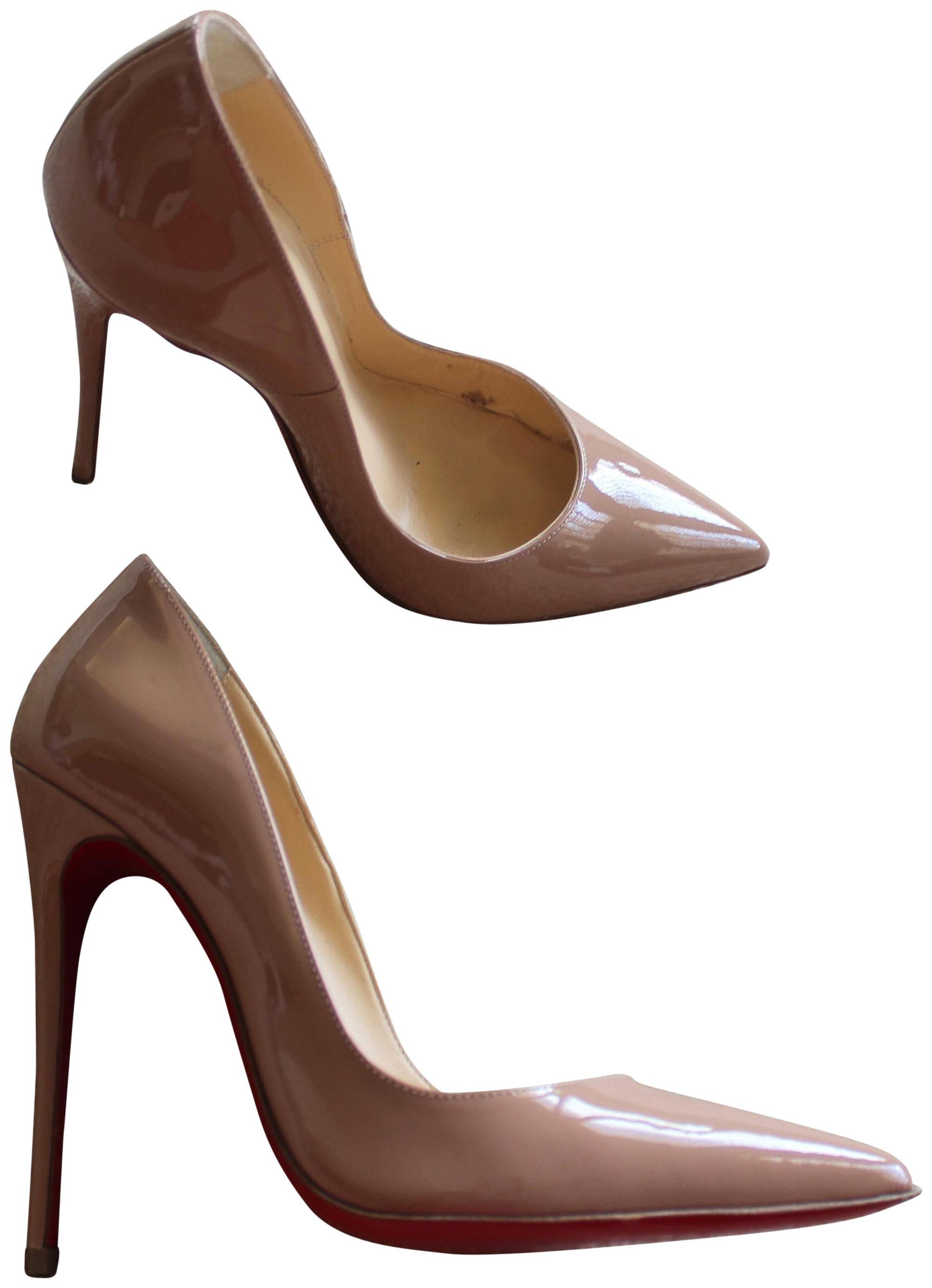 28a2c2e38153 ... discount code for christian louboutin patent leather so kate pigalle  pointed toe nude beige pumps 848ee