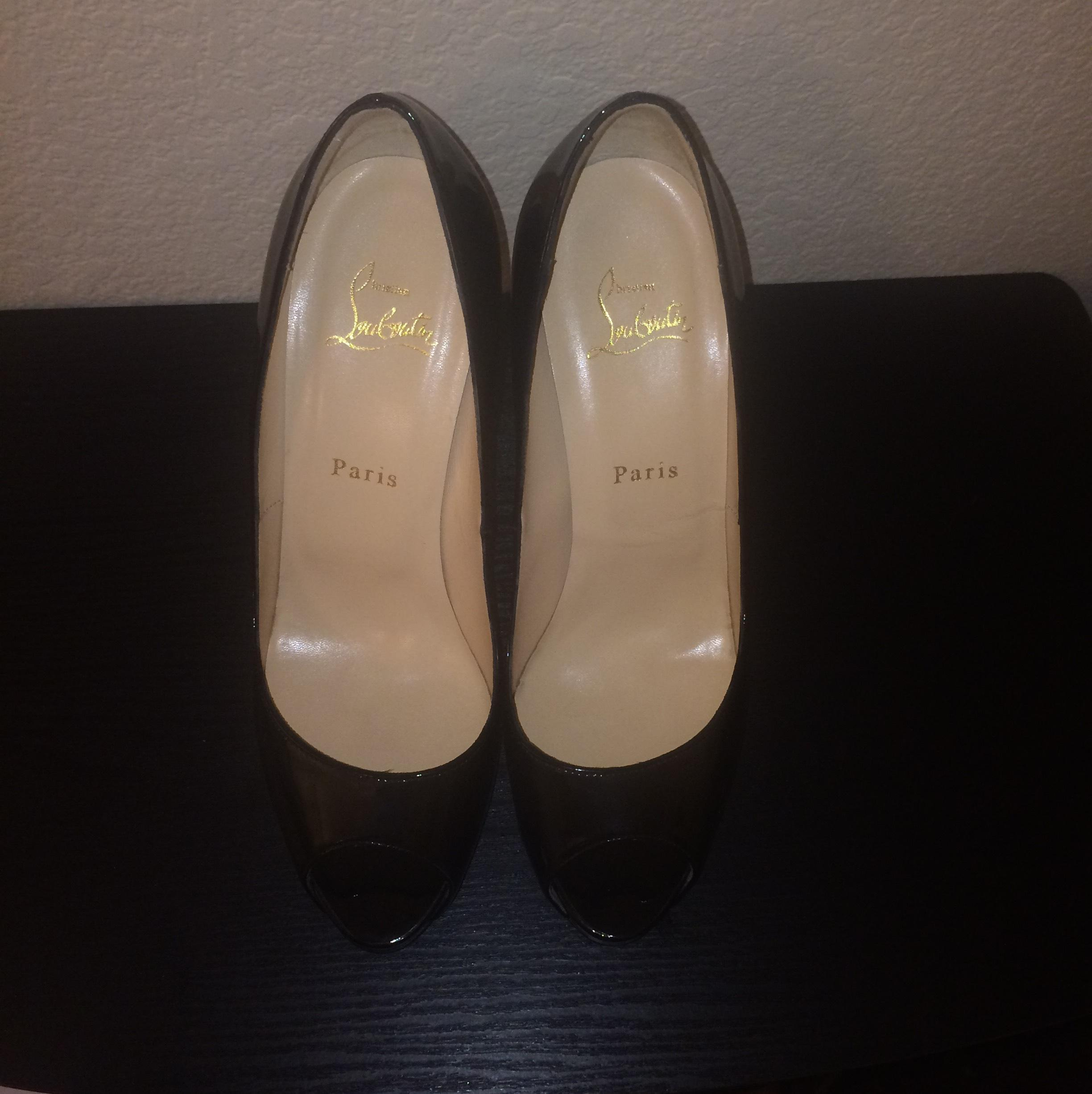 614d552ae3ed ... Christian Louboutin Blac Very Prive Patent Leather Platforms Size Size  Size US 9.5 Regular (M ...