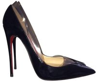Christian Louboutin Black and Clear PVC Pumps