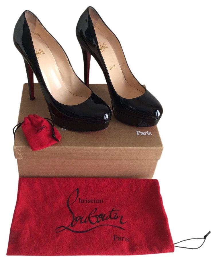 Christian Louboutin Black Bianca 140 Mm Patent Leather Pumps Size US 10.5 Regular (M, B)