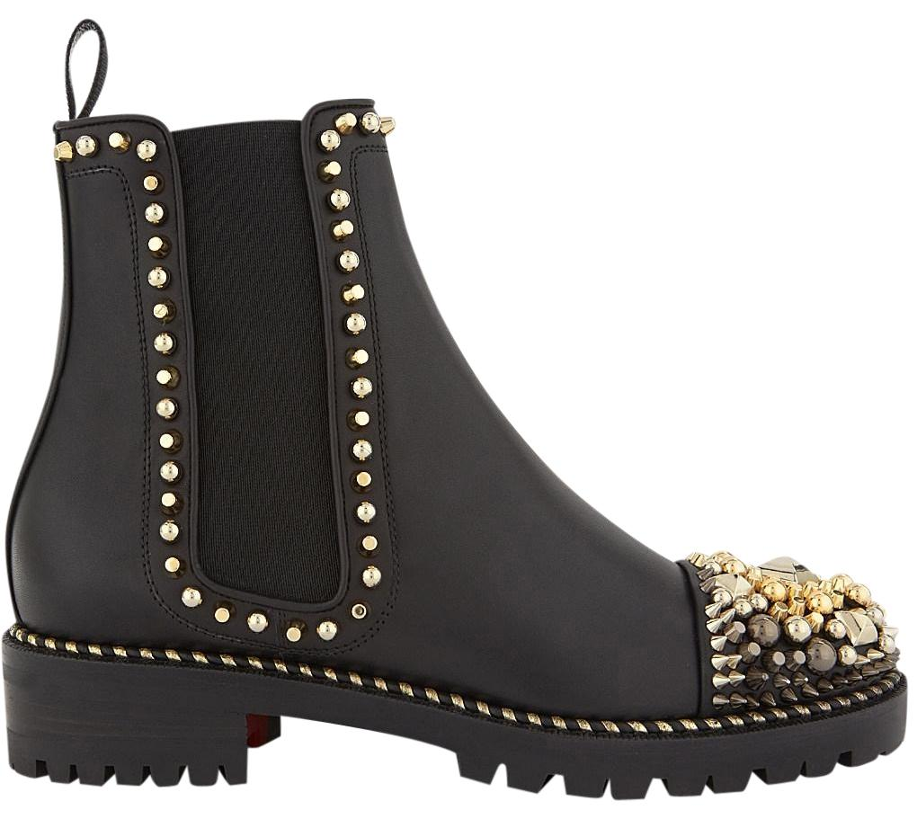 60818af8c971 new style christian louboutin black hongroise 85 studded leather ankle boots  98876 c9ce0  purchase christian louboutin ankle classic chasse studded black  ...