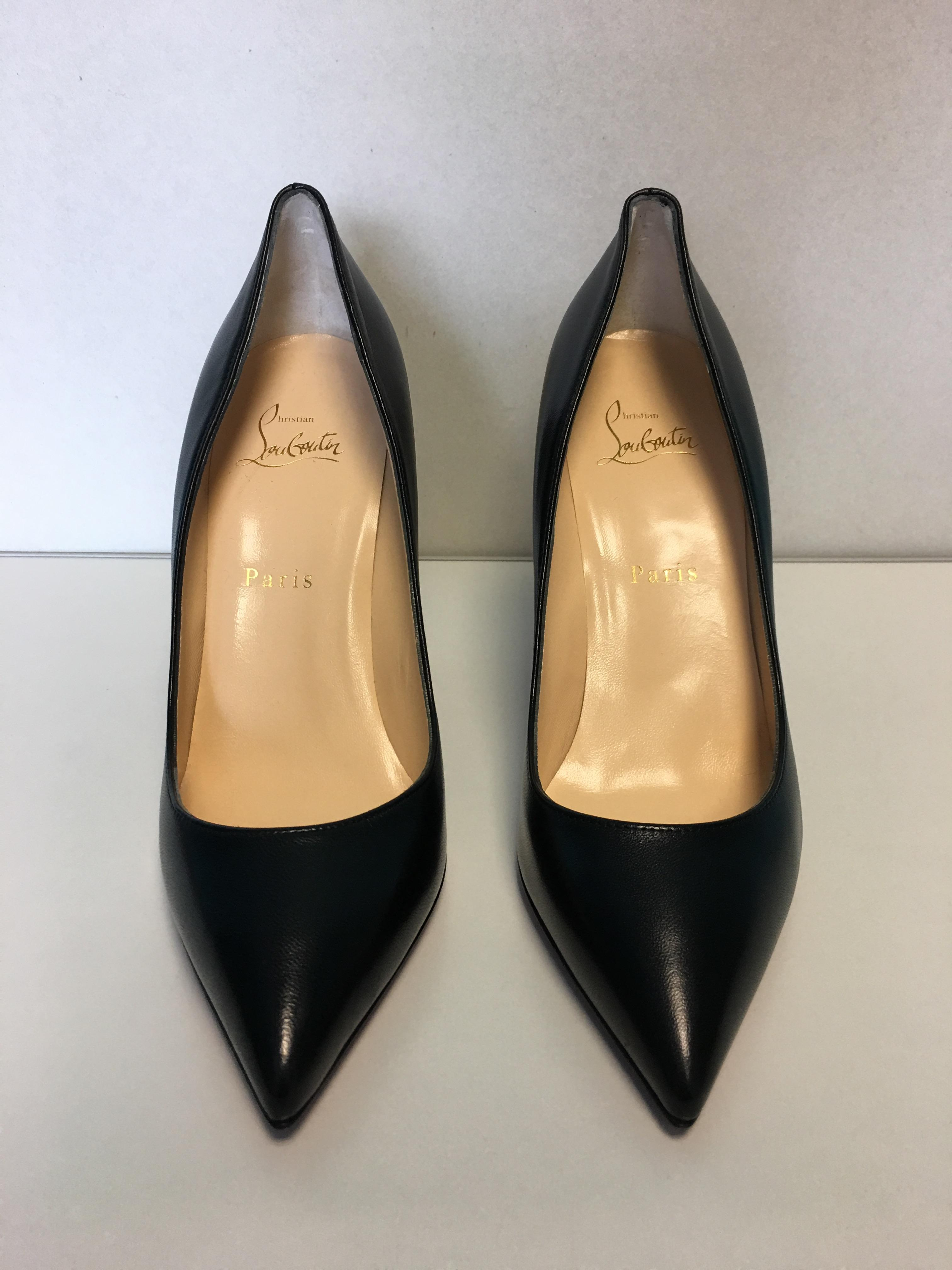 6511483d01 ... Christian Louboutin Black Classic Pigalle Pigalle Pigalle 100mm Nappa  Shiny Leather Point-toe Pumps Size ...