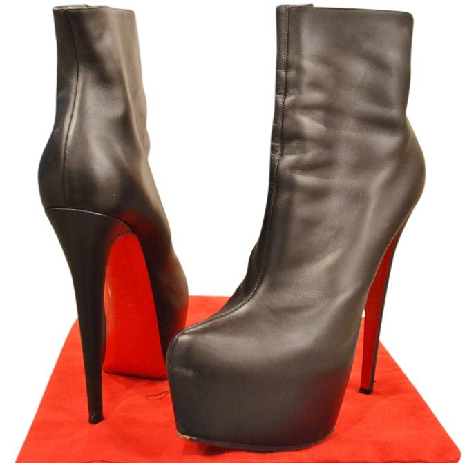 a04ef3d09ef Christian Louboutin Black Daff 160 Boots Booties Boots Booties Boots Booties  Size US