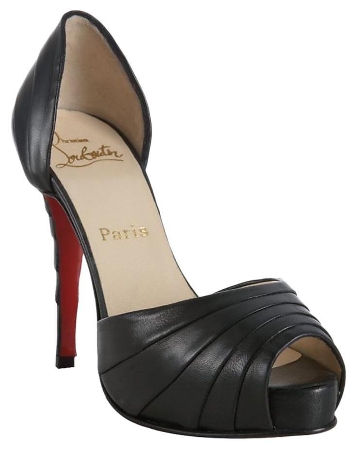 Christian Louboutin Black Leather 'armadillo 120' Pleated D'orsay - Pumps Size US 12 Regular (M, B)