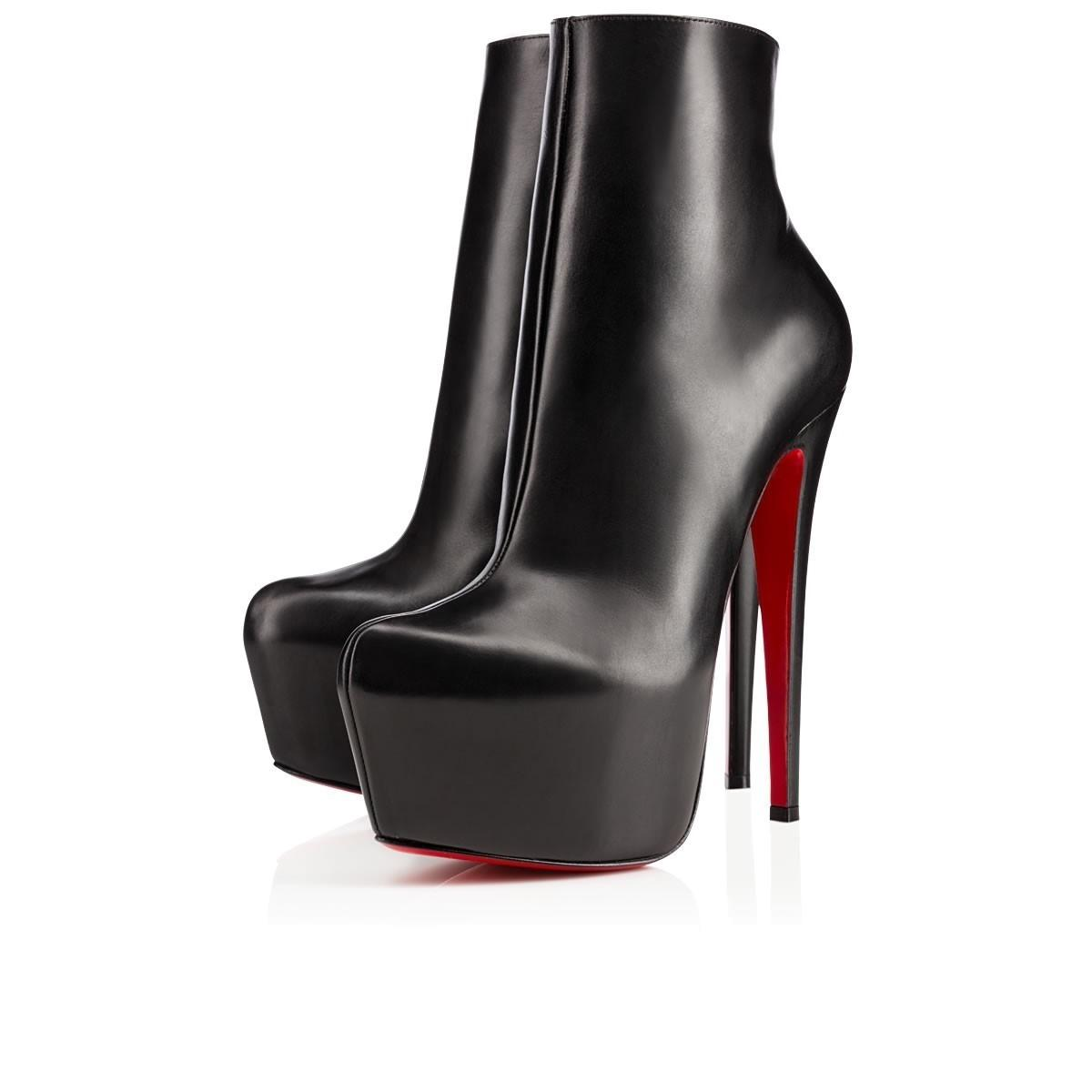 Christian Louboutin Black Leather Daf Ankle Boots/Booties Size US 9 Regular (M, B)