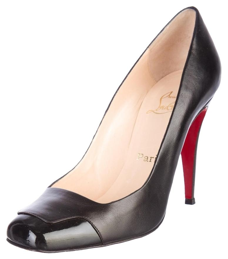 Christian US Louboutin Black Leather Lady Grant 100 Pumps Size US Christian 10 Regular (M, B) 8f86f5