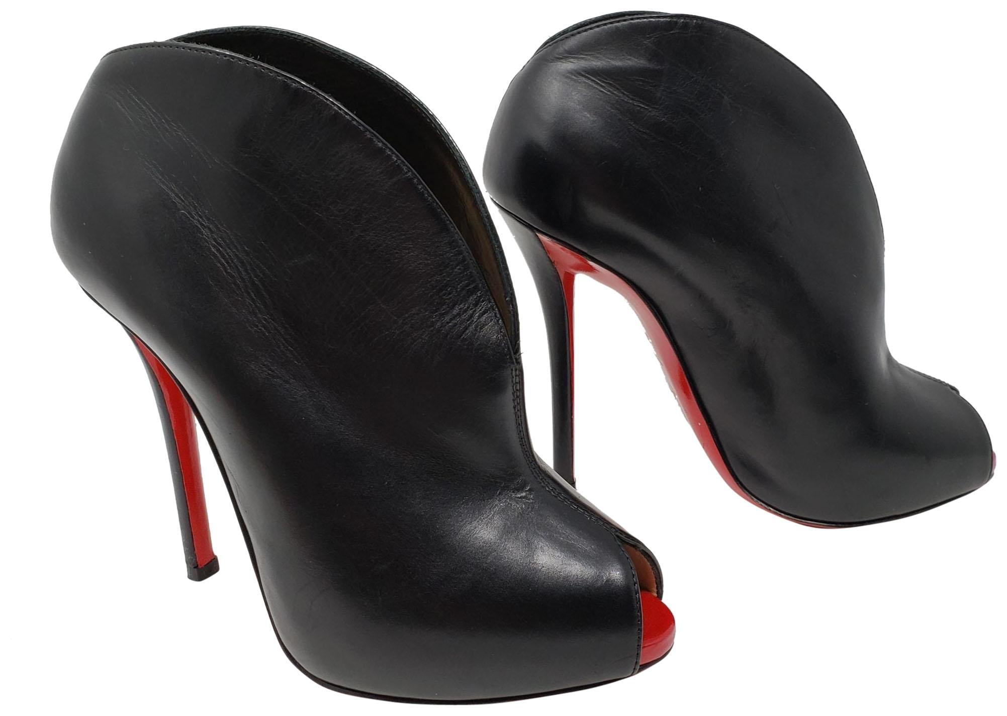 c66972b1eec4 ... best christian louboutin ankle peep toe so kate pigalle black boots  2141c 0cf6b