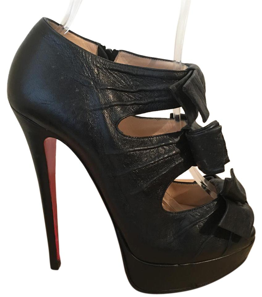 b20dcda8e2805 Christian Louboutin Black Madame Butterfly Leather Eu 37 - 7 Pumps Size US  6.5