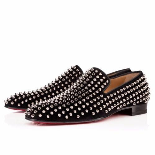 Christian Louboutin Black Men's Spikes Formal Shoes Size EU 42.5 (Approx. US 12.5) Regular (M, B)
