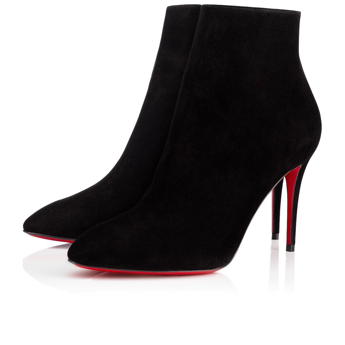 Christian Louboutin Black New Eloise 85 Suede 37 Boots/Booties Size US 7 Regular (M, B)