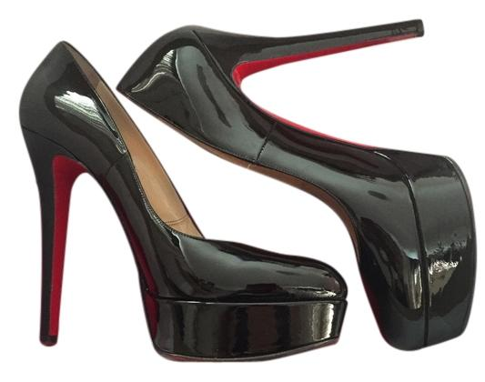 Christian Louboutin Black Night Out Stiletto Patent Leather Pumps Size US 9