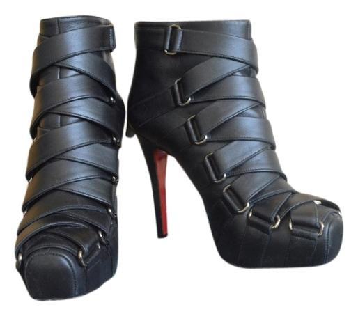 Christian Louboutin Black Nitoinimoi 120 Leather Boots/Booties Size US 6 Regular (M, B)