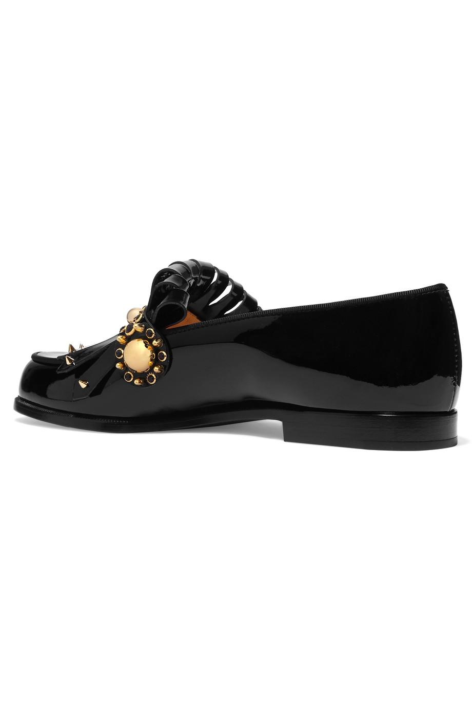 christian cuirs louboutin Noir  octave cuirs christian mocassin flats taille 11 ordinaire (m, b) 22f712