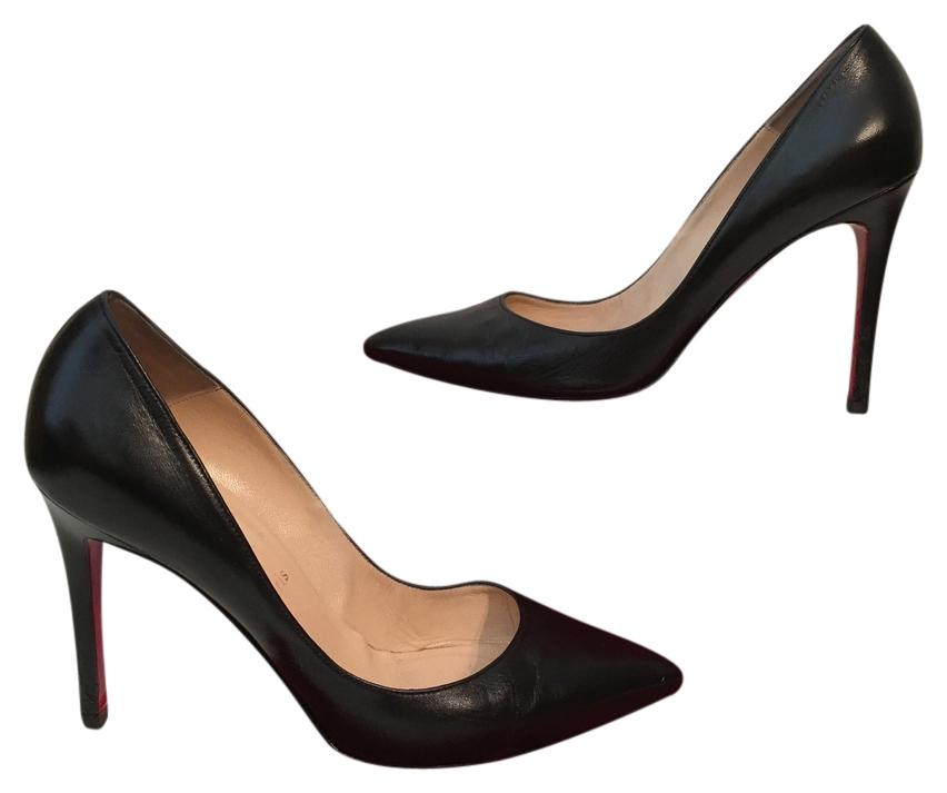 24048cd0ad Christian Louboutin Black Pigalle Pigalle Pigalle 100 Leather Eu 39.5 Pumps  Size US 9 c80db5