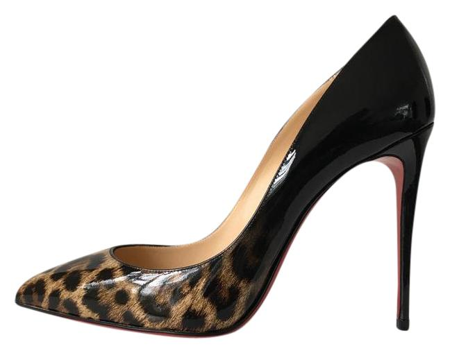 Pigalle Follies 100 Printed Patent-leather Pumps - Blue Christian Louboutin otjeK