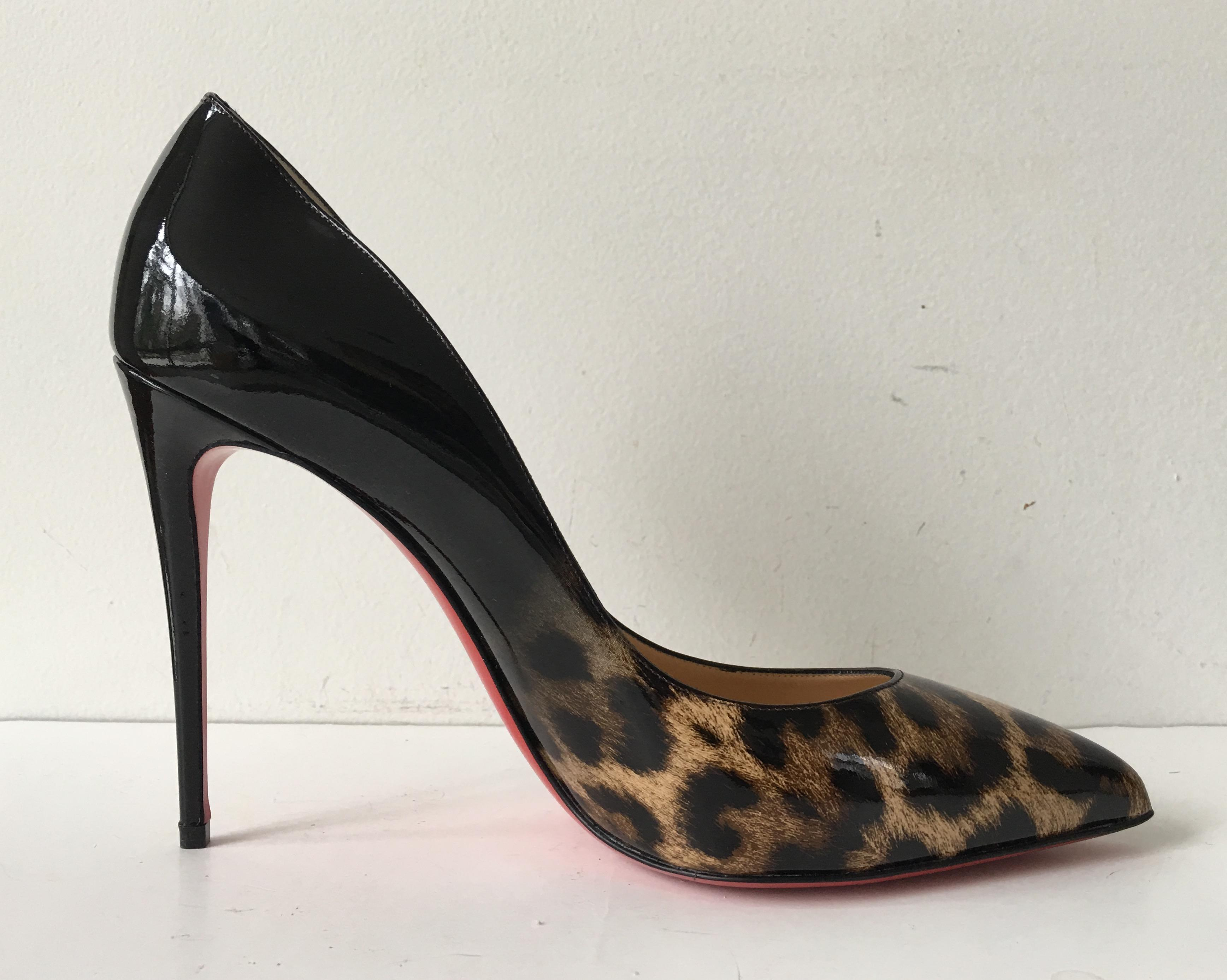 Pigalle Follies 100 Printed Patent-leather Pumps - Blue Christian Louboutin T6rTL7Syoq