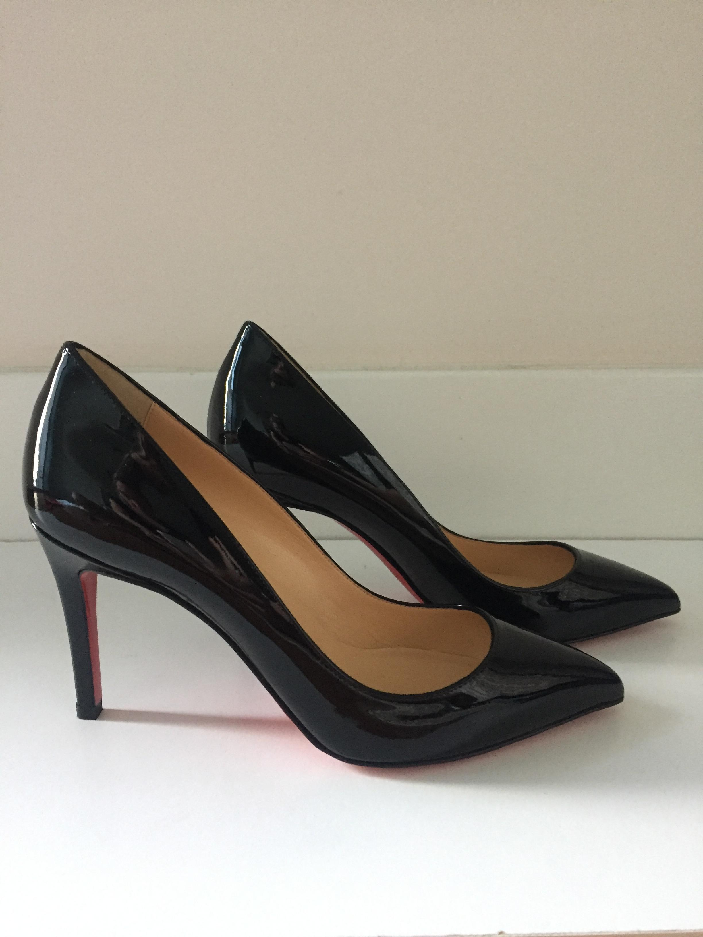 d51a2791f179 Christian Louboutin Black Pigalle Follies Patent Patent Patent 85mm Pumps  Size EU 41 (Approx.