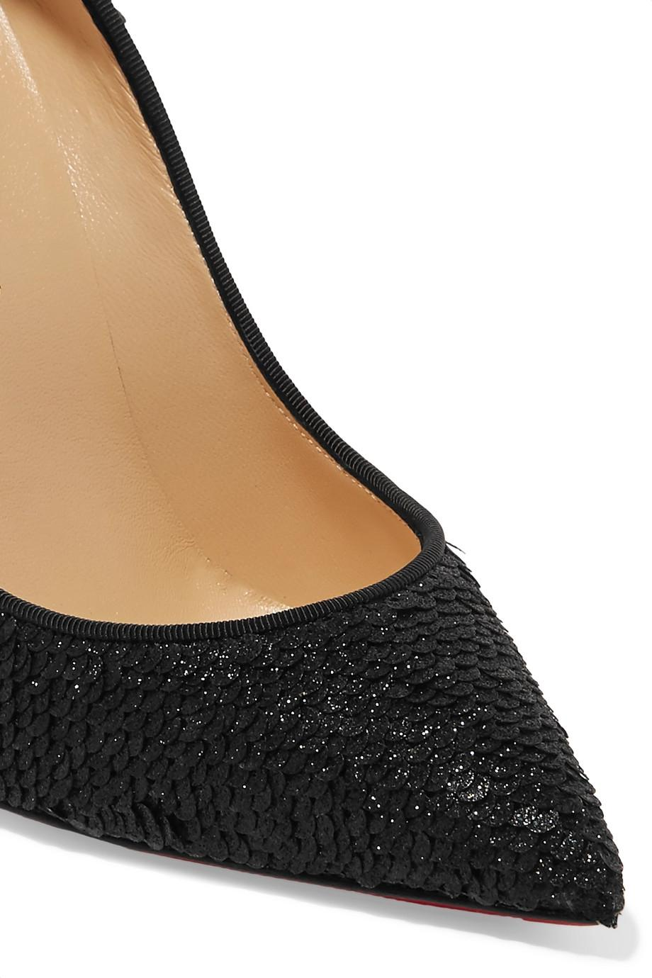 a3dbd5a9228 Christian Louboutin Black - Pigalle Follies Sequined Sequined ...