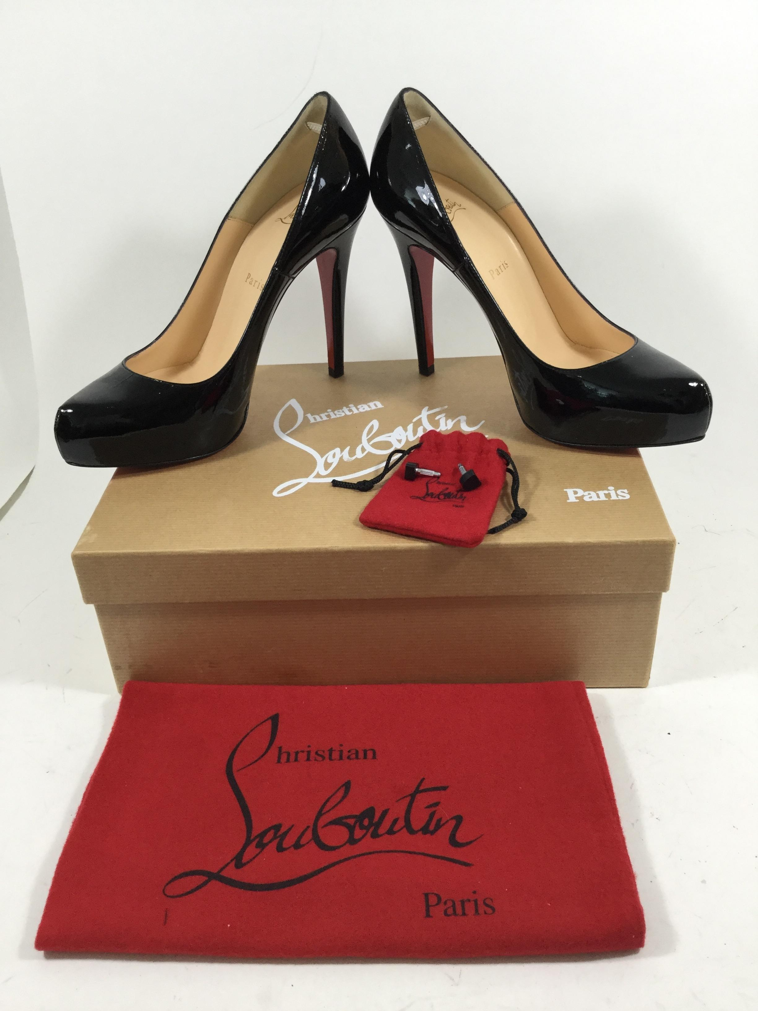 14413c1f895 ... Men s Women s   Christian Louboutin Black Rolando 120 Patent Calf Pumps  Pumps Pumps Size US