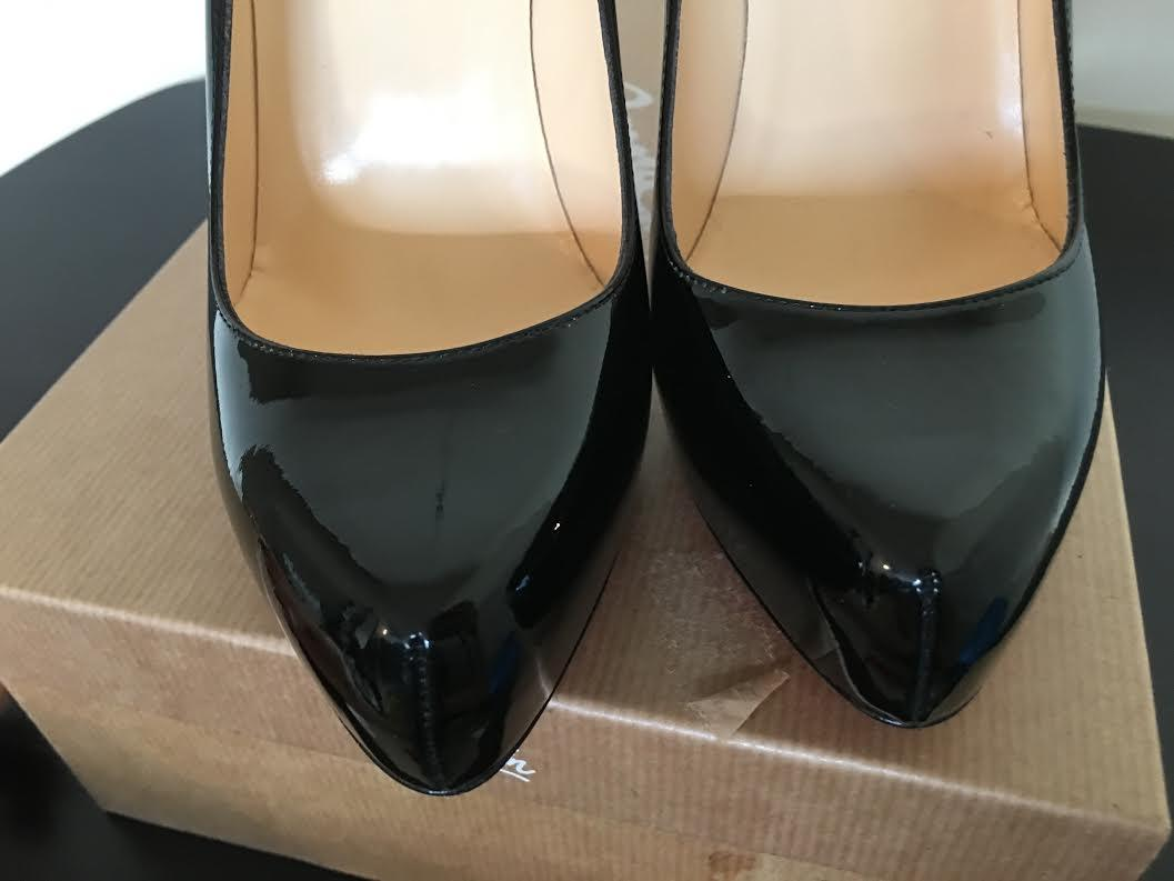 8d70b1345f23 ... Christian Louboutin Louboutin Louboutin Black Rolando Patent Leather  Platform 37 Pumps Size US 7 Regular ...